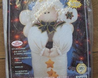 "All Stuffed Up felt friend kit ANGEL 24"" tall What's New Ltd stuffing and pellets NOT included  NIP"