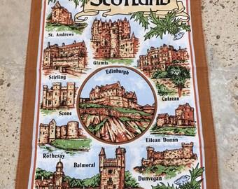 Vintage Scotland Travel Souvenir - Castles of Scotland - Great Britain - Vintage Traveler - Collectible Travel Collection - Scottish Scot