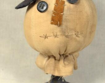 Primitive Snowman Make-do * folk art * homespun * handmade