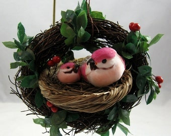 Birds in a Nest Christmas Ornament 104