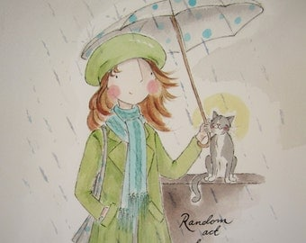 Random act of kindness A5 card - cat fundraising - shipping included!
