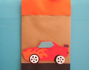 race car favor bags