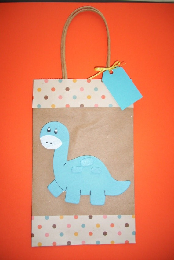 dinosaur favor bags baby shower bags toddler birthday favor bags