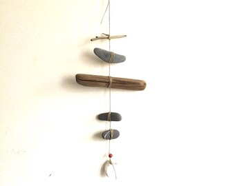 Moon Mobile//Wall Hanging - Found and Made Objects - Handmade
