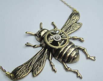 Hardware Bee Necklace - a great gift for cool wives, sisters or best friends.