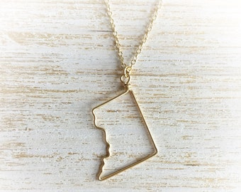 Washington DC Necklace - DC Necklace - District of Columbia Necklace - Washington Necklace - State Necklace - DC Outline