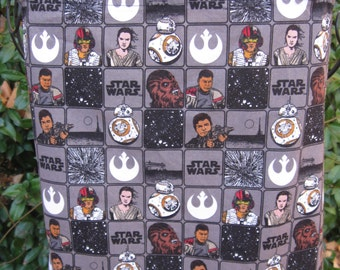 Force Awakens, BBQ Apron, Star Wars apron, pocket, brown apron, twill tape ties