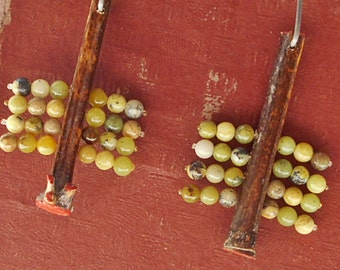 Bamboo Sticks Assemblage Earrings