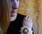Victorian White Lace Cuff