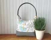 Floral Handbag, Purse, Shoulder Bag, Tote Bag, Zipper Bag, Fabric Handbag, Womens Handbag, Spring Handbag, Summer Purse, Mother's Day Gift