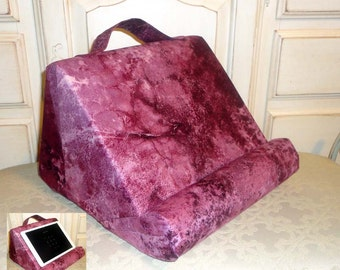 iPad or Book Stand Padded For Your Lap / Soft Tablet Pillow/Reading Pillow/Book Accessorie