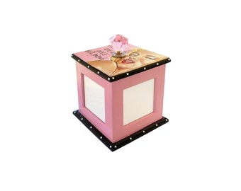Marilyn Monroe Pink Diamonds Rotating Photo Frame Cube