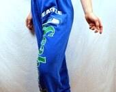 Vintage 1980s Seattle Seahawks Football Hawks NFL Sweatpants - Artex Tag
