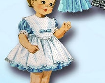 1960s Vintage McCalls Sewing Pattern 7592 Teenie Weenie Tiny Tears Doll Clothes