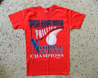 Philadelphia Phillies 1993 National League Champs vintage baseball tee - size medium