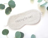 Napping for Two Sleeping Mask, Mom-to-be Linen Sleep Mask, Pregnancy Gift, Baby Shower Gift, Mothers Day Gift, New Mom Gift