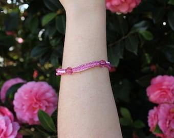 Seed Bead Layered Bracelet.