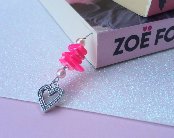 Hot Pink Love Heart Thong bookmark.