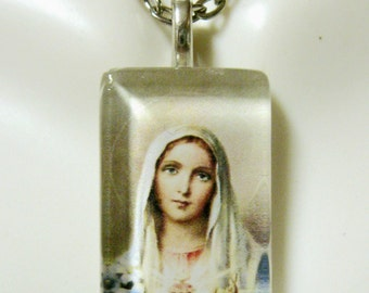 Immaculate heart pendant with chain - GP09-052