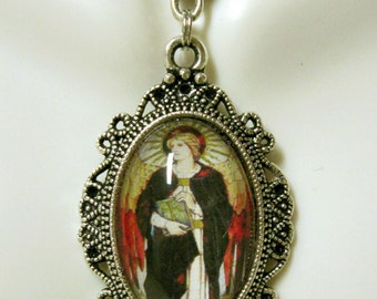Archangel Uriel pendant with chain - AP04-139