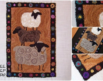 Punch Needle Pattern - Farm Show Sheep - #PN509 - Needlepunch Embroidery