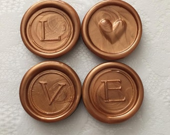 Flexible Wax Seal Custom Made Inspirational Magnets-LOVE