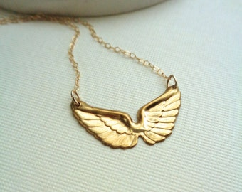 Angel Wings Necklace Gold Wings Necklace Layered Necklace Delicate Minimalist Necklace Everyday Jewelry Wings Pendant Daryl Dixon Pendant