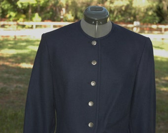 1960s Navy Blue Pendleton Cropped Jacket Size Small