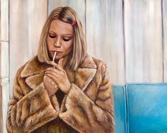 Margot Tenenbaum -  Gwenyth Paltrow Portrait Painting Print - The Royal Tenenbaums Wes Anderson - 5x7 8x10 11x14