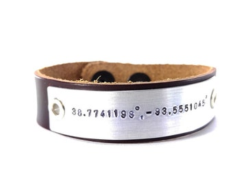Personalized Unisex Leather Bracelet Custom Bracelet Men's Women's Leather Bracelet Customized