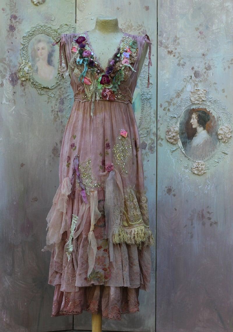 fallen petals dress long bohemian romantic dress baroque. Black Bedroom Furniture Sets. Home Design Ideas