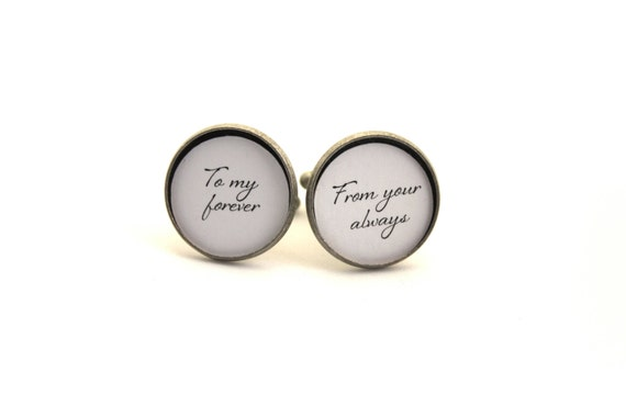 Gift for Him, Gift for Groom, Men's Cufflinks, Cuff Links, Anniversary Gift, Gift for Husband, Wedding Accessories, Custom Gift for Him