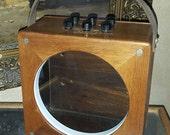 Vintage Industrial Display Case re-purposed Voltage Meter Box
