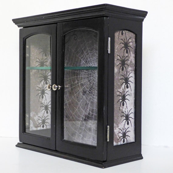 Gothic Home Decor Display Wall Cabinet Curio Cabinet