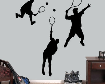 Tennis Guys Set - Sports Wall Decals