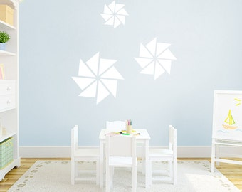 Set of Pinwheels - Shapes Nursery and Kid's Room Wall Decals