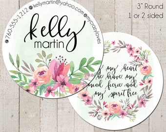 Round Business Cards, Round Social Cards, Kelly Martin, 3 Inch Round Business Cards, Hang Tags, Product Tags, Package Inserts, Circle Card