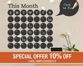 Daily Dot Chalkboard Wall Calendar - Vinyl Wall Decal