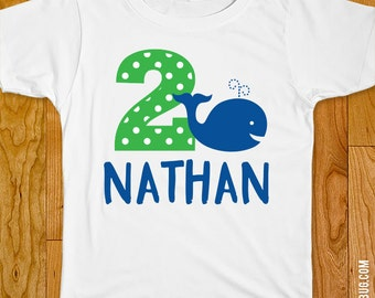 Whale Birthday Iron-On Shirt Design - Choose child or onesie size