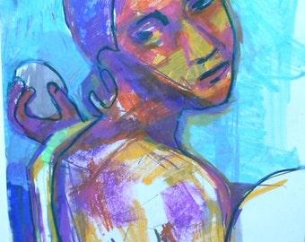 Original Drawing After Paul Gauguin Figures & Portraits by R M Drescher 18 x 24