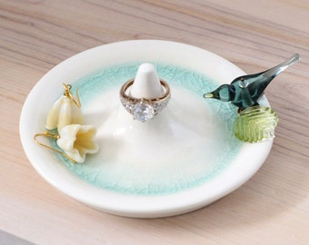 ring bearer dish, ring holder, engagement ring dish
