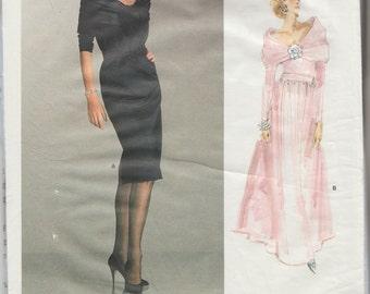 Vogue 1996 / Paris Original / Vintage Designer Sewing Pattern By Yves Saint Laurent / YSL / Dress Gown / Size 8