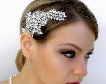 Natasha Vintage Inspired Bridal Crystal Hair Comb Garland Headpiece