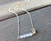 Bridesmaids Crystal Necklace---CUSTOM---Silver or Gold