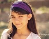 Wrap Headband, Plum Purple Headband, Yoga Bandana, Bad Hair Day Head Wrap, Plum Head Wrap Headbands (#1016) S M L X