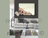 Large Canvas Art, Venice Beach Sign, Green, Beige, 16x20, Large Wall Art Canvas, Beach House Decor