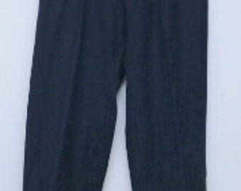 Vintage 1940s men's blue wool tuxedo pants/ 40s men's tux pants