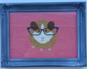 Hipster Hamster - Cross Stitch Pattern