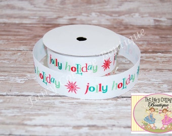Jolly Holiday 7/8 inch Ribbon