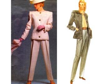 1990s GIVENCHY Jacket & Pants Pattern Vogue Paris Original 2643 Vintage Sewing Pattern Size 6 8 10 or 12 14 16 UNCUT Factory Folded
